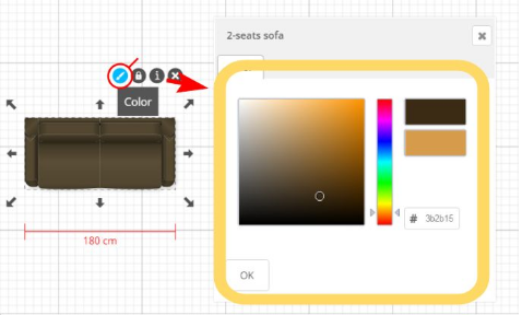 colorize a product, where this option is available
