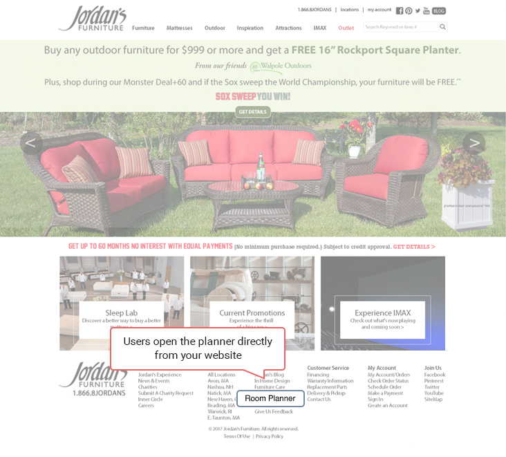 ... Directly From Your Website A Customized Edition Of PlanningWiz To  Easily Create Customized Layouts With Furniture Arrangements On Their Floor  Plans.